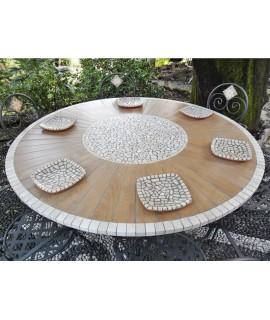 Piano da Tavolo in Mosaico Wood C