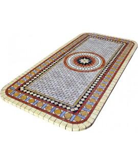 top in mosaico per tavolo in ferro battuto