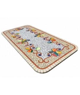 tavolo in mosaico e ferro
