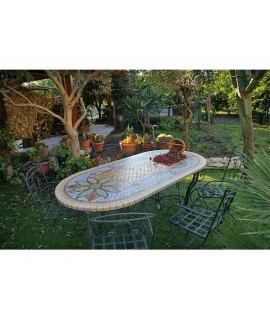 Piano da Tavolo in Mosaico 5004O