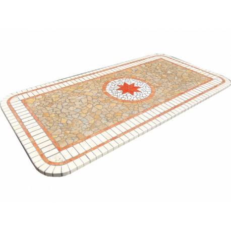 Mosaic table top 8056R free line