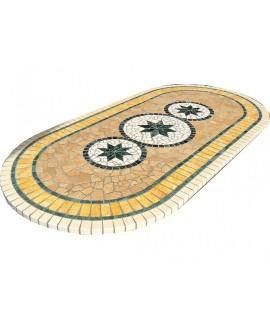 Mosaic table top 8057O free line