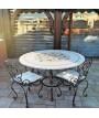 Tavolo tondo in mosaico