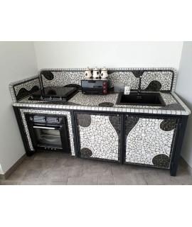cucina per esterno in metallo