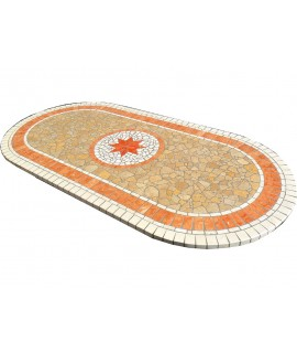 Mosaic table top 8050 free line